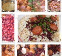 fasole rosie cu carnati si orez