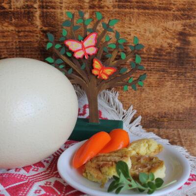 Omleta din ou de strut