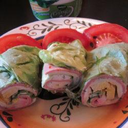 Rulouri de salată verde